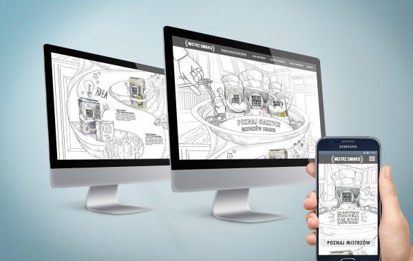 Projekt strony www dla marki Mistrz Smaku
