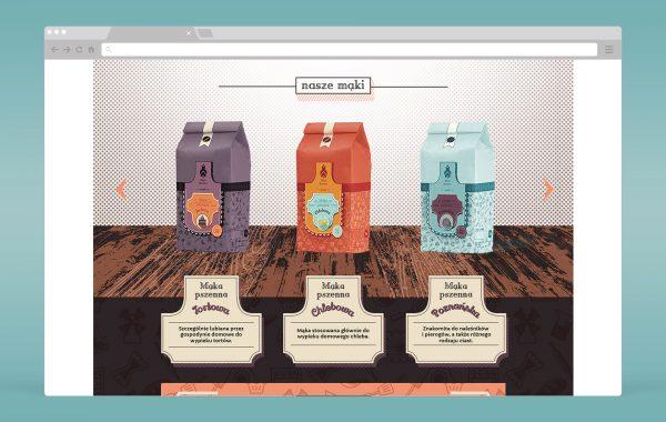 Projekt strony www dla marki Młyn Brenno