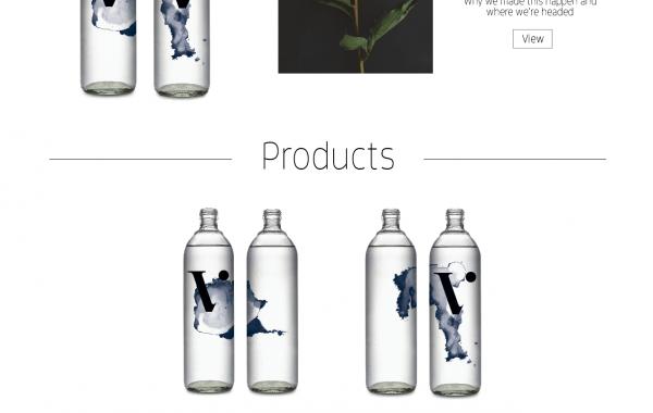 Projekt strony www dla nowej linii wody mineralnej